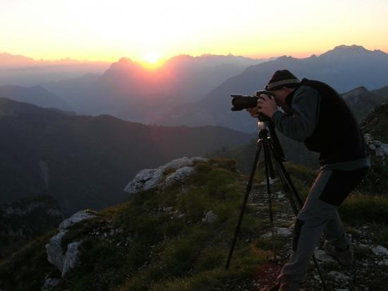 chasse photo au petit matin dans les Bauges